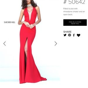 Red Sherri Hill Prom Dress #50642